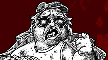 A sketch of Mr Plinkett, from the Red Letter Media site
